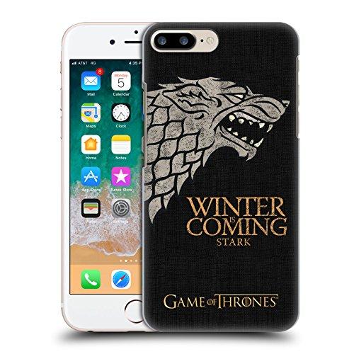 Head Case Designs Oficial HBO Game of Thrones Stark Lemas de La Casa Carcasa rígida Compatible con Apple iPhone 7 Plus/iPhone 8 Plus