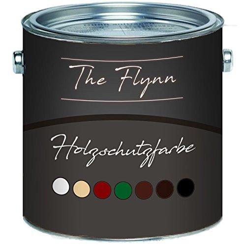 The Flynn - Pintura protectora para madera, secado rápido y resistente a la intemperie, protección contra la intemperie en blanco, beige, rojo sueco, verde, marrón oscuro, marrón rojo y negro, Marrón