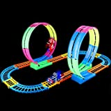 FiGoal 27 Pieces Large Race Track Set with Double 360°...