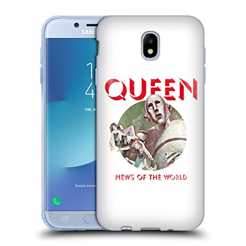 Head Case Designs Oficial Queen Noticias del Mundo Arte Clave Carcasa de Gel de Silicona Compatible con Samsung Galaxy J7 2017 / Pro