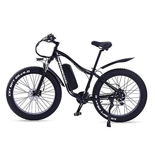 ride66 Bicicleta Electrica de Montaña para Adulto Hombre Mujer MTB 26' 1000W 48V 16Ah Ebike (Negro)