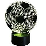 3D Fútbol Ilusión Lámpara luz Nocturna 7 Colores Cambiantes Touch USB de Suministro de Energía Juguetes Decoración