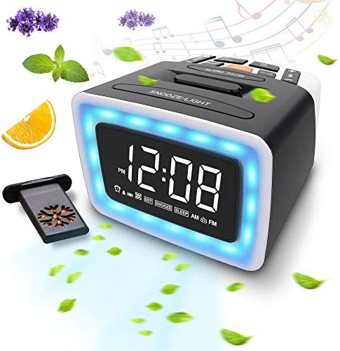 OnLyee Essential Oil Diffusing Scent Alarm Clock with LED Night Light 4 Scents 7 Alarm Sounds product image