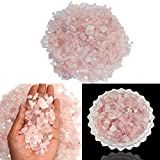 Reiki Crystal Products Natural Rose Quartz Crystal Stone Chips Dust Raw Rough Stone for Vastu Correction, Reiki Healing and Crystal Healing Stons Pack of 50 Gm Approx