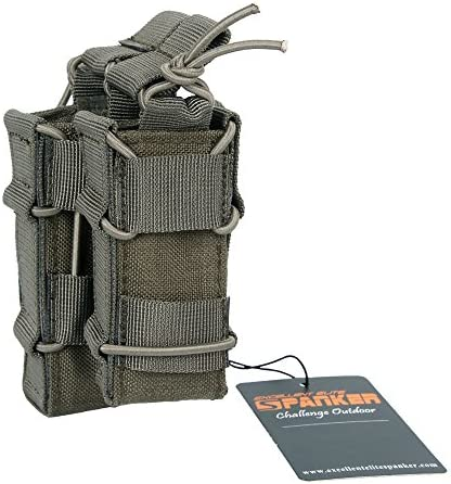 EXCELLENT ELITE SPANKER Open Top Rifle Mag Pouch for M4 M16 AR15 Magazines with 1911 HK45 Glock product image