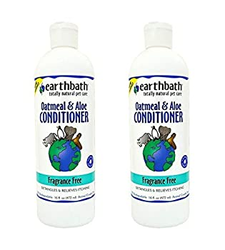 Earthbath Oatmeal and Aloe Conditioner Fragrance-Free  2 Pack  16 oz