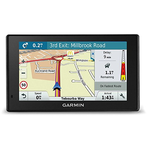 Garmin Drive Smart navigatieapparaat touchdisplay, levenslange kaartupdates en verkeersinformatie, Smart Notifications, 010-01680-12, Kaarten West-Europa, 5-inch display, zwart