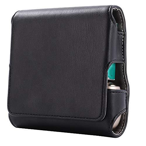 DrafTor E Zigarette Tasche, PU Leder Zigarettenetui für I-Q-O-S 3.0 mit Magnetabdeckung (nur Tasche)(schwarz)