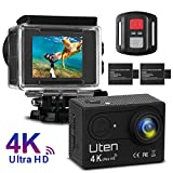 Action Kamera Sport Cam Uten 4K WiFi Camera 16MP Ultra Full HD Unterwasserkamera Helmkamera 170...