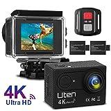 Uten Caméra Action Sport Caméscope Étanche 4K 16MP WiFi Ultra Full HD Sport Hiver, 170° Grand-Angle, 2 Pouces...