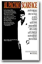 Scarface Poster - Movie Promo Al Pacino - 11 x 17 inches BW
