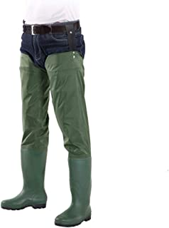 Outdoor Fly Fishing Hip Waders Waterproof Fishing Hunting Boots Anti-slip Thicken Wading Leg Pants Soft Rain Boots