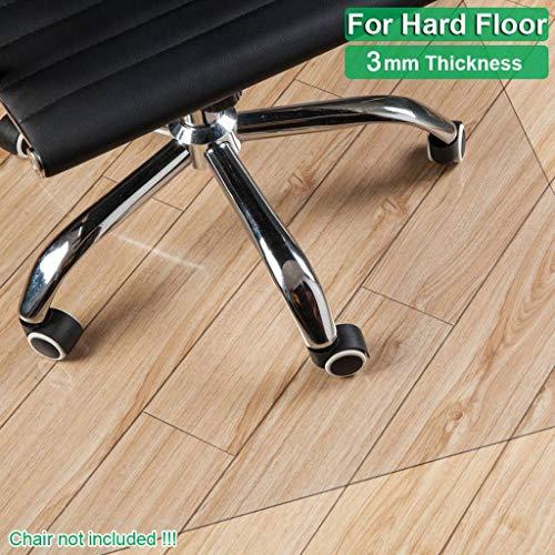 SINKITA Vinyl vloerbeschermingsmat voor harde vloeren, transparante onderlegmat voor parket, laminaat, tegels en harde vloeren, PVC-vloeren