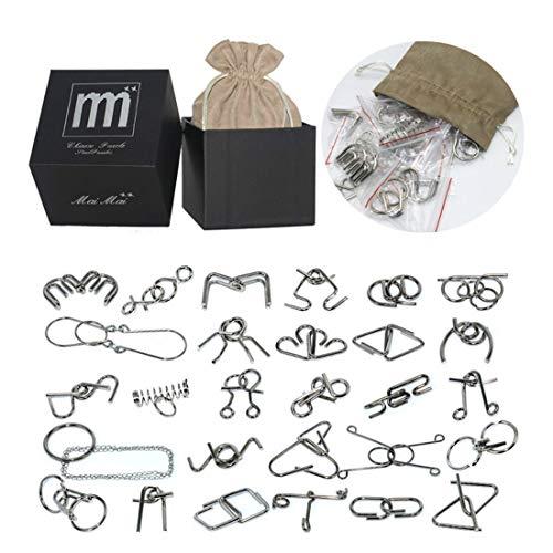 Leic Adventskalender Füller 30Pcs Metall Puzzle Brain Teaser IQ Test Lernspielzeug für Kinder und Erwachsene