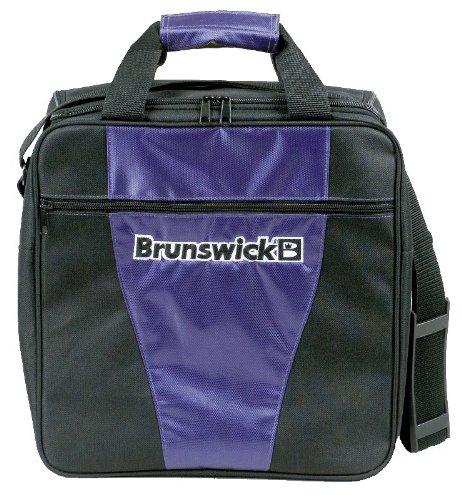 Brunswick 1-Ball Bowlingtasche für eine Bowlingkugel und Bowlingschuhe, Farbe:Lila