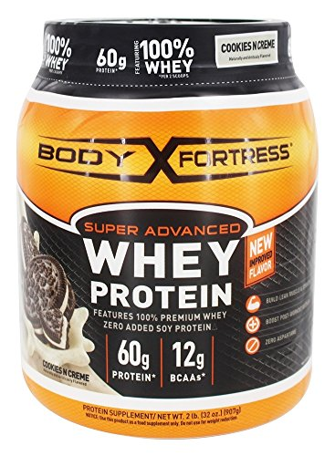 Body Fortress Super Advanced Whey Protein Cookies N Creme 2 lbs