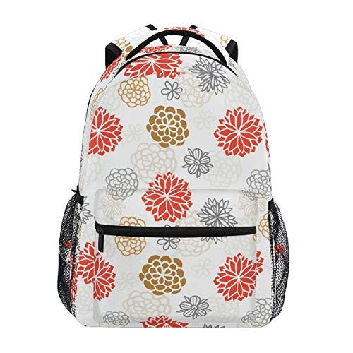 Mochila escolar estilo japonés Flora Elementary College Daypack para niña niño Ukiyo-E 2010236