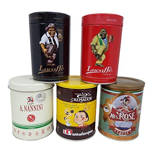 Espresso Probierset, il grande cinque, gemahlen, 5 x 250g