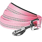 """Length 5', Width 3/4"""", Size Medium. The 3M reflective threads are stitched into the polyester webbing. This leash is a single product. Its matching collar (B00ZP4A30I) /harness (B01MU7V1R2) sold separately All pictures are taken with our production s..."""