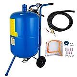BanabaB 75L Mobiles Sandstrahlgerät 20 Gallon Sandstrahlen Pot Druckluft Sandstahler Sandstrahl Sandstrahlanlage Sandstrahlen Pot (75L)