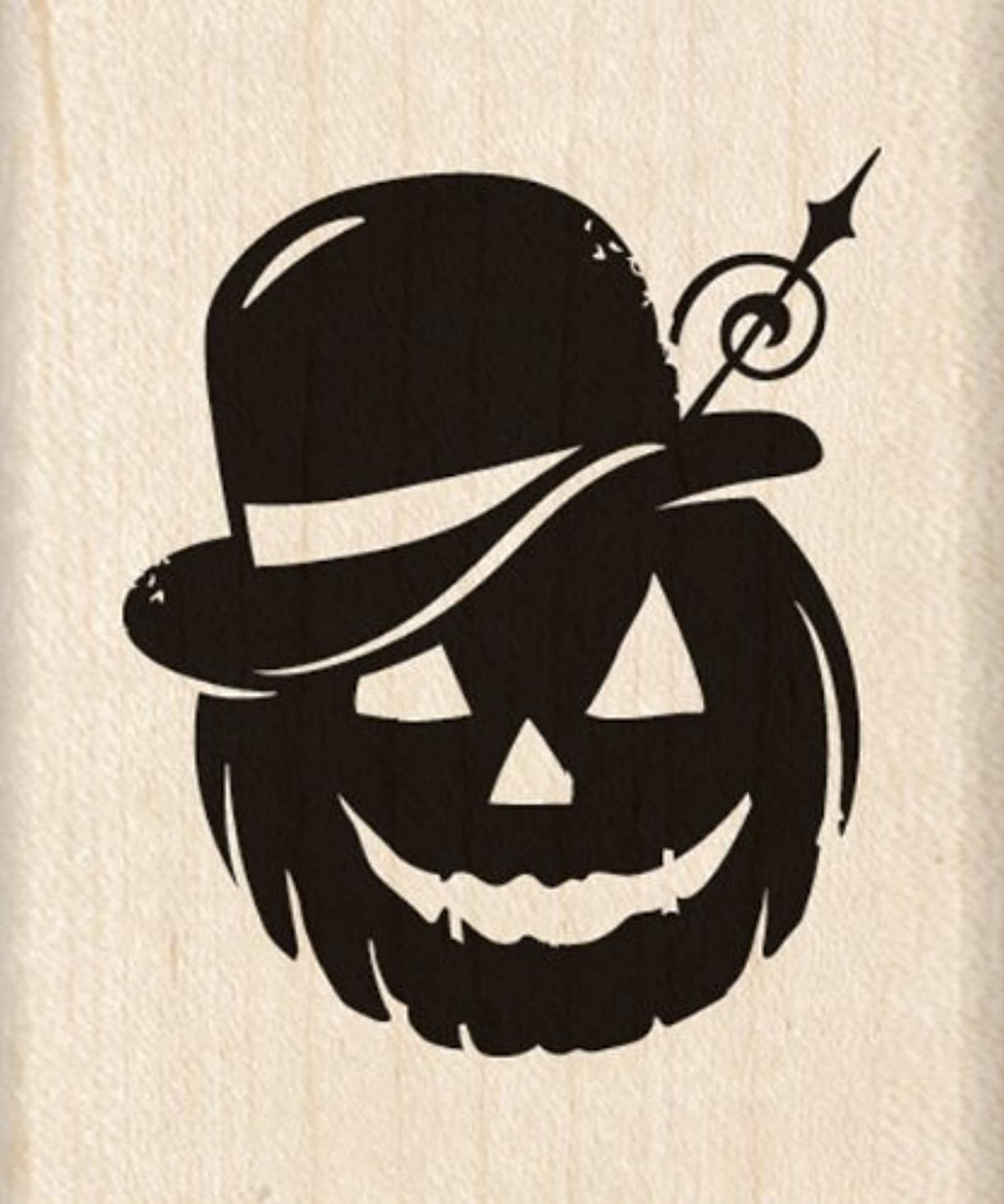 Inkadinkado Wood Stamp, Bowler Hat Pumpkin kccqs739395