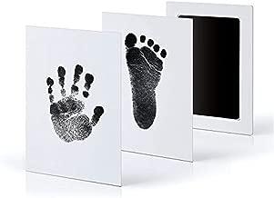 Gosear Recién Nacido bebé Seguro no tóxico Tacto Limpio sin Tinta Huella Huella Almohadilla de Tinta con 2 Tarjetas de impresión