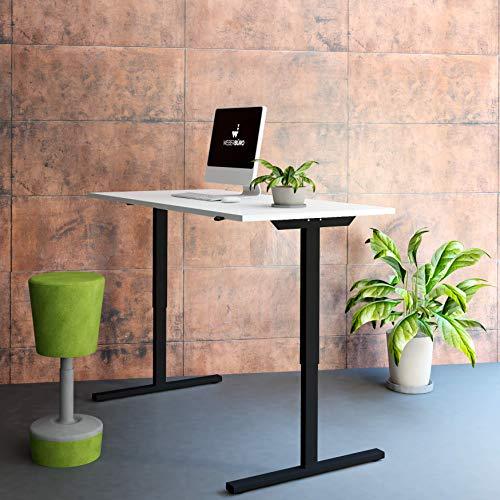 Profi elektrisch höhenverstellbar Schreibtisch Easy 160x80cm Motortisch LINAK, Gestellfarbe:Schwarz