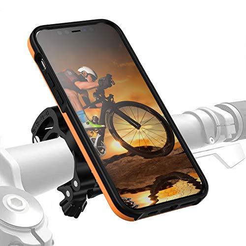 Morpheus M4s - Soporte para bicicleta para iPhone 12/12 Pro y iPhone 12/12 Pro, con cierre rápido, color naranja