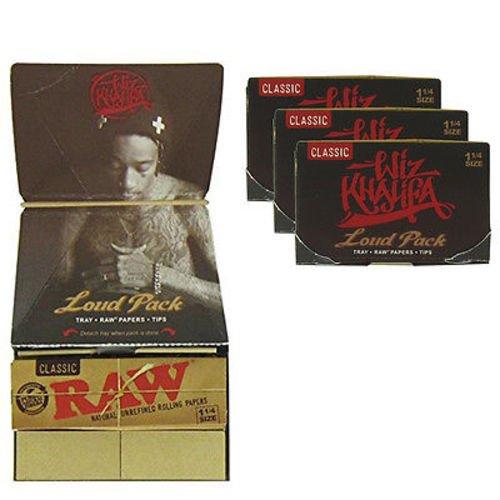 RAW Wiz Khalifa Loud Bandeja Pack 1 1/4 Papeles + filtros sin ...