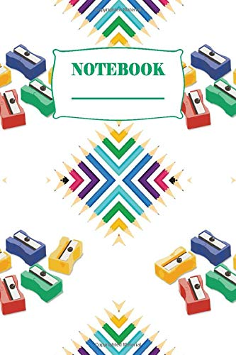 Notebook: Wide Ruled Paper Notebook Journal, Composition Notebook: Pretty Wide Ruled Paper Notebook Journal ( Pencil sharpener Pattern Cover )