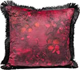 Kare Design Kissen Red Flowers Fringe 45x45cm (H/B/T) 8 45 45