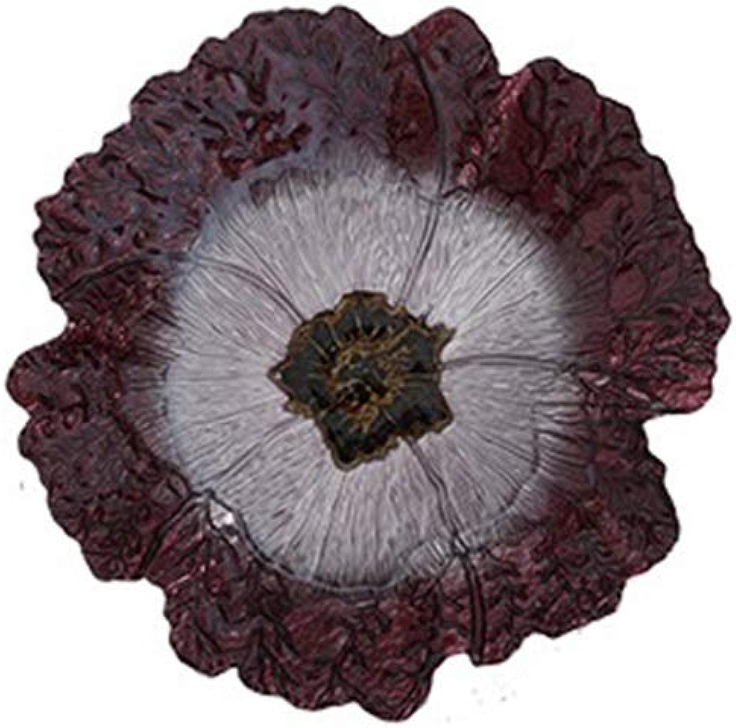 Plateau de Fruits, Assiette décorative de Fruits en Verre importé européen Salon créatif à la Maison (Couleur   A, Taille   38 cm)