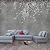 Personalidad 3D Flor Cemento Pared Dormitorio Sala de estar TV Fondo Papel de pared Restaurante Té Tienda Papel pintado grande -430 * 300 cm