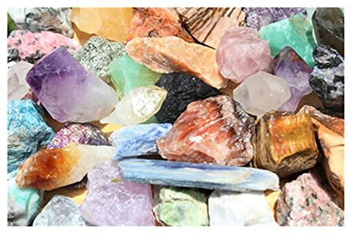 YSJJDRT Cristal Natural Rugoso 1000 Carat Lot Bulk Crafters Mixed Crafters Gems Crystal Natural Rough Raw Rocks Mineral