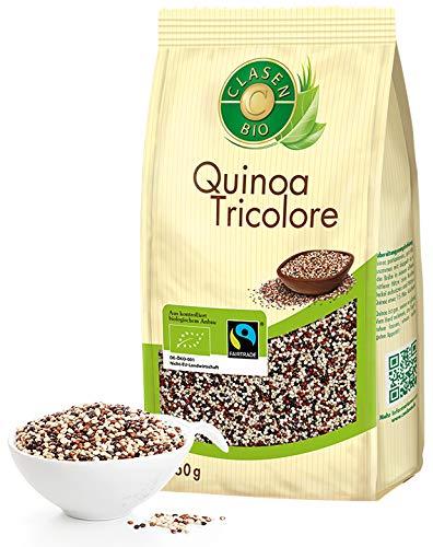 CLASEN BIO Quinoa Tricolore - 450g, Fairtrade, von Natur aus vegan und glutenfrei, biologischer Anbau