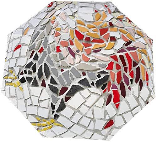 Dreifach gefalteter manueller Regenschirm Kreativer bunter Hahn Mosaik Hintergrund Nano wasserdicht dreifach faltbarer Regenschirm Sonnenschutz, der Sonne und Regen-Handbuch abdeckt