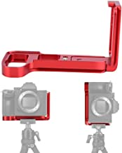 Jadpes Quick Release Bracket  Durable Quick Release L-Shaped Plate Camera Bracket Mount Vertical Grip for SNY A7M3 A7R3 A9 Electric Trolling Motors Red