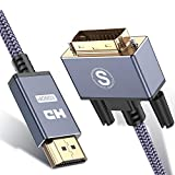 DisplayPort (DP) to DVI Cable,Sweguard DP to DVI Display Converter Male to Male Cable Gold Plated High Speed DP Male A to DVI-D Cord for PS4,Blu-Ray,Roku, Xbox One,Monitor or TV (3.3ft, Grey)