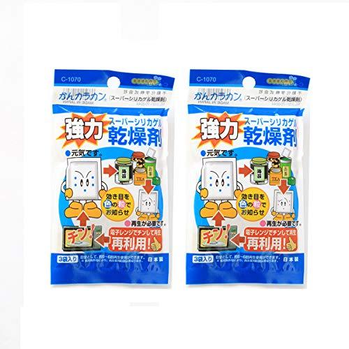 【おまとめ買い】スーパーシリカゲル乾燥剤 除湿剤 カメラ 食品用 ドライフラワー レンジで再利用可能 (10g×6個)