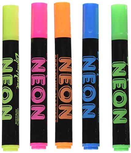 Liqui-Mark 5 Neon Broadline Watercolor Markers (80550)