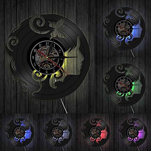 Reloj de pared con clip de mariposa para mujer, diseño de mariposa, para decoración floral artificial, regalo para sus luces LED