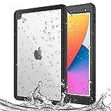 MoKo ケース iPad 第8世代 2020 & iPad 第7世代 2019 / iPad 10.2用ケース 防水ケース 内蔵スクリーンプロテクター付き 超保護 衝撃吸収バンパー 水中用 フルボディケース ブラック