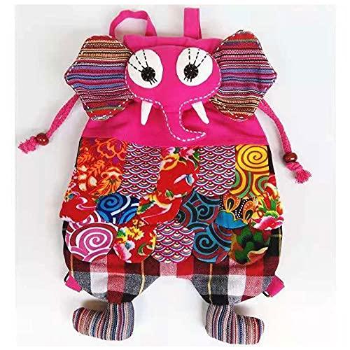 SXPML Mochila de Estilo étnico Mochila para niños Mochila de Moda Pequeña Mochila para niños-Rosado_22 * 27 cm