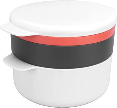 Microwave Oven Case, Steamed Egg Pot Stacked Multi-layer Round Multifunction for Microwave