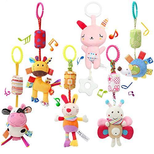 WILNARA 6 Pack Rattle Toys Hanging