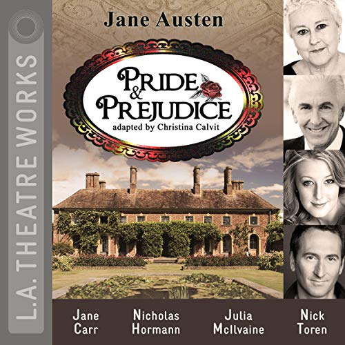 Pride and Prejudice (Dramatized)                   By:                                                                                                                                 Jane Austen,                                                                                        Christina Calvit                               Narrated by:                                                                                                                                 Diane Adair,                                                                                        Jane Carr,                                                                                        Chloe Dworkin,                   and others                 Length: 1 hr and 49 mins     5 ratings     Overall 3.8