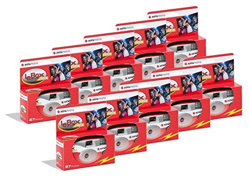 Agfa AG601020-10 AgfaPhoto LeBox Flash 400 Einwegkamera mit Blitz (10-er Pack)