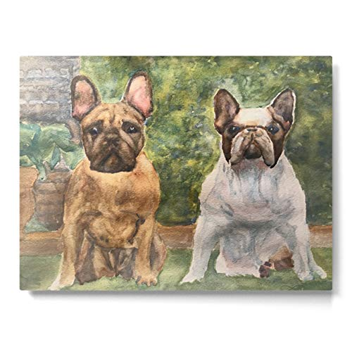Society6 French Bulldogs at The Ready by Perry Payne Art & Design on Metal Art Print - Medium
