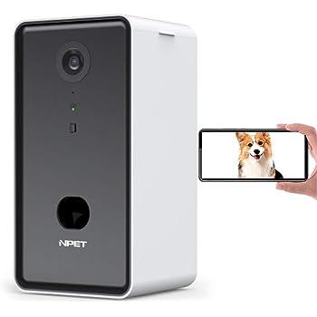 NPET ドッグカメラ ペット カメラ 飛び出すおやつ 写真 動画 双方向会話 犬 留守番 iOS Android対応