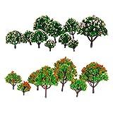 Modelos de Árboles en Miniatura de Escala HO Z N de 20 Piezas (3-8 cm)